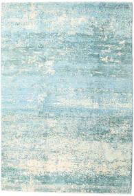 Damask Collection Tapis 193X282 Moderne Fait Main Bleu Turquoise/Bleu Clair ( Inde)