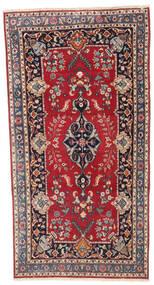 Kashmar Patina Tapis 92X180 D'orient Fait Main Tapis Couloir Rouge Foncé/Violet Foncé (Laine, Perse/Iran)