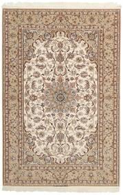Ispahan Chaîne De Soie Tapis 158X237 D'orient Tissé À La Main Gris Clair/Beige/Marron (Laine/Soie, Perse/Iran)