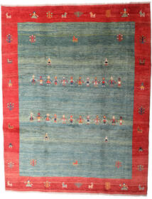 Gabbeh Rustic Tapis 263X335 Moderne Fait Main Vert Foncé/Gris Clair Grand (Laine, Perse/Iran)