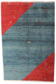 Gabbeh Rustic Tapis 203X305 Moderne Fait Main Bleu/Rouille/Rouge (Laine, Perse/Iran)