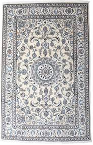 Naïn Tapis 190X297 D'orient Fait Main Gris Clair/Blanc/Crème (Laine, Perse/Iran)