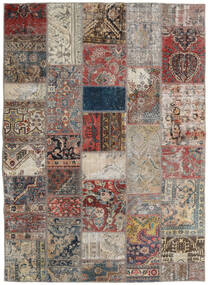 Patchwork - Persien/Iran Tapis 172X240 Moderne Fait Main Gris Clair/Marron Clair (Laine, Perse/Iran)