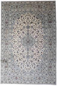 Kashan Tapis 246X366 D'orient Fait Main Gris Clair/Gris Foncé (Laine, Perse/Iran)