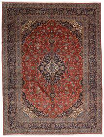 Kashan Tapis 300X392 D'orient Fait Main Marron Foncé/Rouge Foncé Grand (Laine, Perse/Iran)