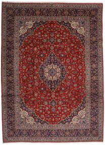 Kashan Tapis 313X428 D'orient Fait Main Rouge Foncé/Gris Foncé Grand (Laine, Perse/Iran)