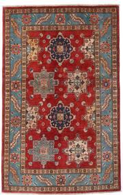 Kazak Tapis 118X188 D'orient Fait Main Rouge Foncé/Marron Foncé (Laine, Afghanistan)