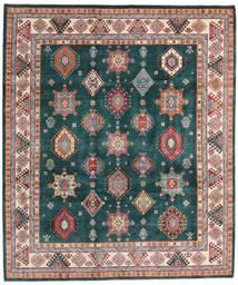 Kazak Tapis 250X294 D'orient Fait Main Turquoise Foncé/Marron Grand (Laine, Afghanistan)