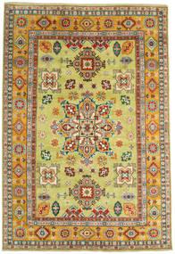 Kazak Tapis 206X302 D'orient Fait Main Jaune/Rouge Foncé (Laine, Afghanistan)