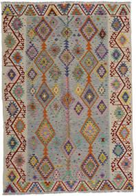 Kilim Moderne Tapis 200X287 Moderne Tissé À La Main Gris Clair/Marron Clair (Laine, Afghanistan)
