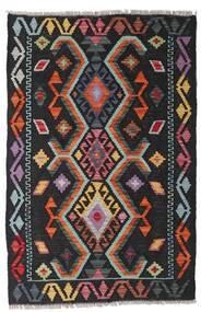 Kilim Moderne Tapis 83X125 Moderne Tissé À La Main Noir/Rouge Foncé (Laine, Afghanistan)