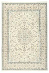 Naïn 9La Sherkat Farsh Tapis 250X353 D'orient Fait Main Beige/Blanc/Crème Grand (Laine/Soie, Perse/Iran)