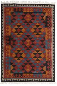 Kilim Isparta Tapis 160X230 Moderne Tissé À La Main Rouge Foncé/Noir (Laine, Inde)