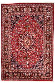 Mashad Tapis 192X287 D'orient Fait Main Rouge Foncé/Marron Foncé (Laine, Perse/Iran)