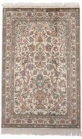 Cachemire Pure Soie Tapis 62X96 D'orient Fait Main Gris Clair/Beige (Soie, Inde)