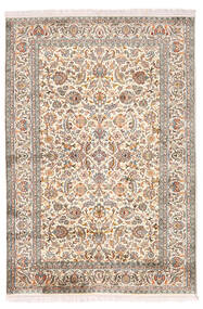 Cachemire Pure Soie Tapis 126X184 D'orient Fait Main Gris Clair/Beige (Soie, Inde)