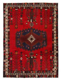 Afshar/Sirjan Tapis 130X178 D'orient Fait Main Marron Foncé/Rouge Foncé/Rouge (Laine, Perse/Iran)