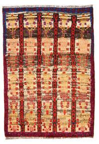 Moroccan Berber - Afghanistan Tapis 80X116 Moderne Fait Main Marron Foncé/Rouge Foncé (Laine, Afghanistan)