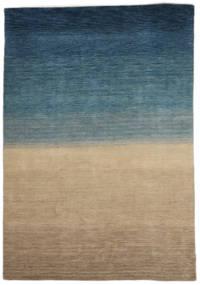 Gabbeh Indo Tapis 158X240 Moderne Fait Main Marron Clair/Bleu Foncé (Laine, Inde)