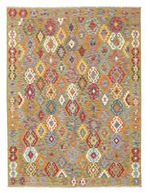 Kilim Afghan Old Style Tapis 178X232 D'orient Tissé À La Main Gris Clair/Beige Foncé (Laine, Afghanistan)