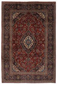 Kashan Tapis 203X302 D'orient Fait Main Noir/Marron Foncé (Laine, Perse/Iran)