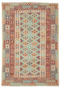 Kilim Afghan Old Style Tapis 165X240 D'orient Tissé À La Main Marron Foncé/Vert Foncé (Laine, Afghanistan)