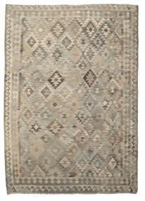 Kilim Afghan Old Style Tapis 208X285 D'orient Tissé À La Main Marron Foncé/Marron Clair (Laine, Afghanistan)
