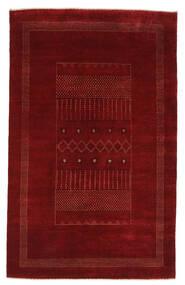 Gabbeh Loribaft Tapis 159X254 Moderne Fait Main Noir/Blanc/Crème (Laine, Inde)