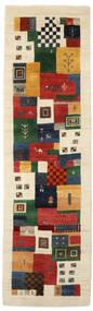 Gabbeh Loribaft Tapis 86X304 Moderne Fait Main Tapis Couloir Noir/Beige Foncé (Laine, Inde)